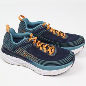 Hoka One One Bondi 6 running shoe blue orange mesh